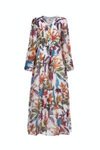 Воздушное платье из шелка в яркие цветы image featured